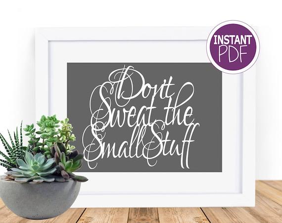 Don't sweat the small stuff Papercut Template