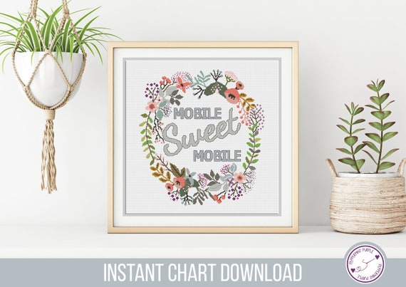 Mobile Home Cross Stitch Pattern