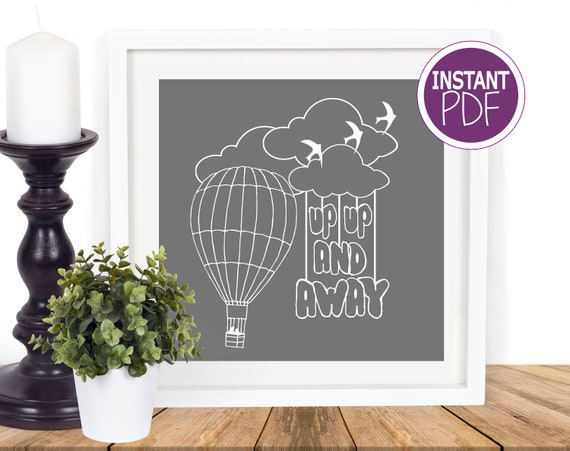 Air Balloon Papercut Template