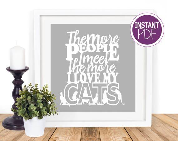 Cats Papercut Template
