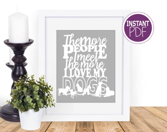 Dog Papercut Template - Commercial Use -  Dog Lover template, paper cut template stencil by Peppermint Purple