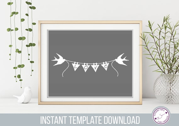 Commercial Use Papercut Template Love Birds