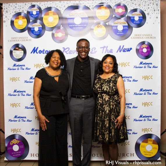 Motown Review Step and Repeat Event Backdrop Banner Photo Booth Customize for Your Event