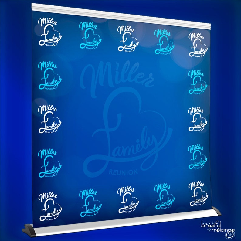 Family Reunion Photo Booth Step and Repeat Family Love Reunion Backdrop Banner Customize for Your Event