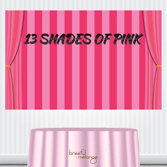 Shade Of Pink Stripes Backdrop Banner Victoria Secret