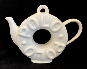 Polo Mint Teapot - Paul Cardew for Sunshine Ceramics 1987 England Ceramic Tea Pot Polo Mint