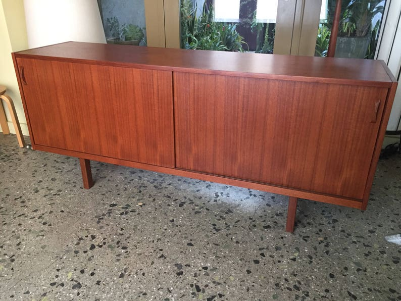 Danish Credenza Los Angeles : Lovely danish modern rose stained credenza cabinet w sculpted pig