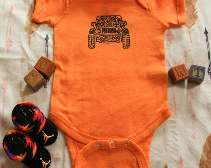 Featured listing image: JEEP  (Infant) Tribal Tattoo Rabbit Skins Infant Onesie