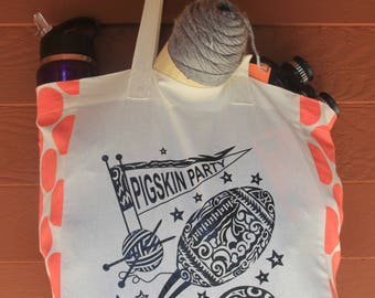 EXCLUSIVE Pigskin Party Tribal Tattoo Origins Cotton Tote Bag