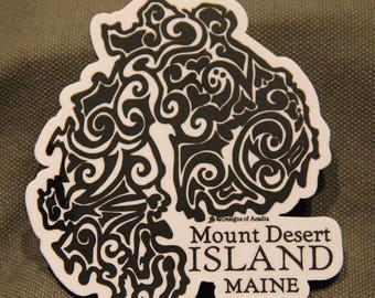 "Sticker - ""MDI Tribal Tattoo"" with Name drop- Vinyl Sticker"