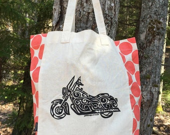 Motorcycle Tribal Tattoo Origins Cotton Tote Bag
