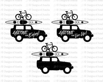JEEP SVG Get Out Adventure Collection Digital cuttable files for vinyl cutters