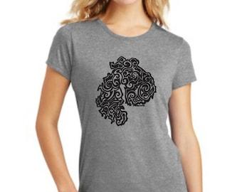 MDI Tribal Tattoo LADIES Tri-Blend S/S T-Shirt (S-XXL)