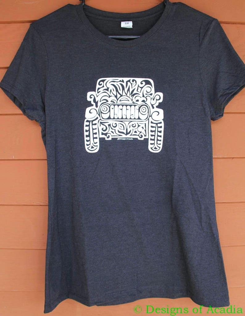 ee64111b JEEP Tribal Tattoo LADIES Tri-Blend S/S T-Shirt S-XL Black | Etsy