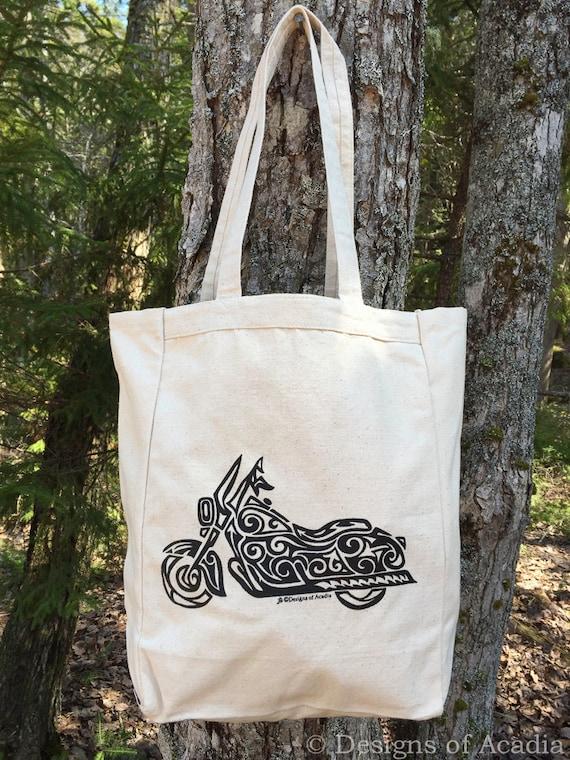 Art Of The Motorcycle Print Large Tote Bag Vinyl New
