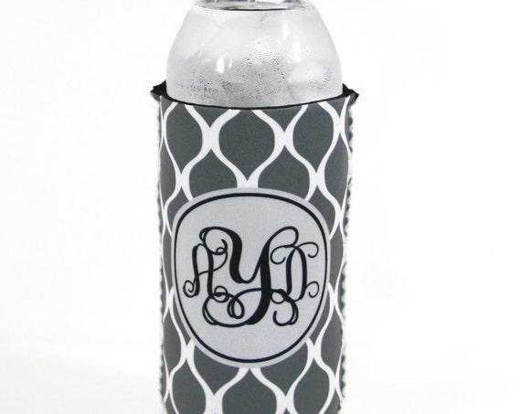 Custom Water Bottle Sleeve Monogram Personalized Bottle Holder Insulator for 16.9 Oz Water Bottles Best Friend Gift Monogrammed Student Gift