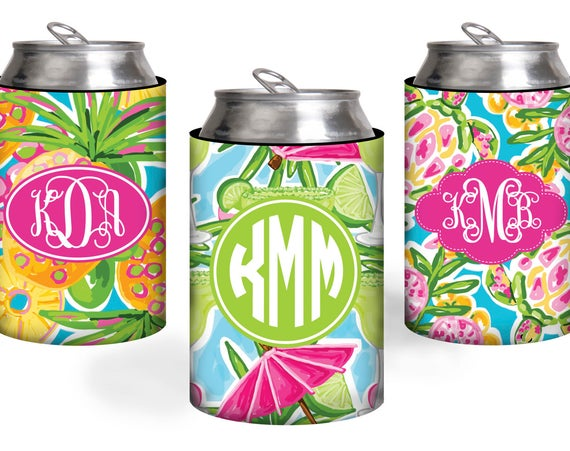 Bridesmaid Gift Beach Can Coolers Girls Trip Can Coolies Personalized Monogram Bridal Party Gifts Bachelorette Party Best Friend Gift