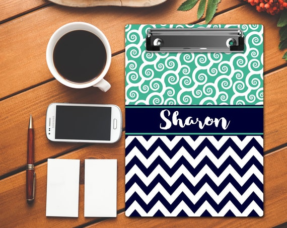 Personalized Gifts for Coworkers Monogrammed Clip Board Custom Clipboard Personalized Clip Board Monogrammed Gift Teacher Gift