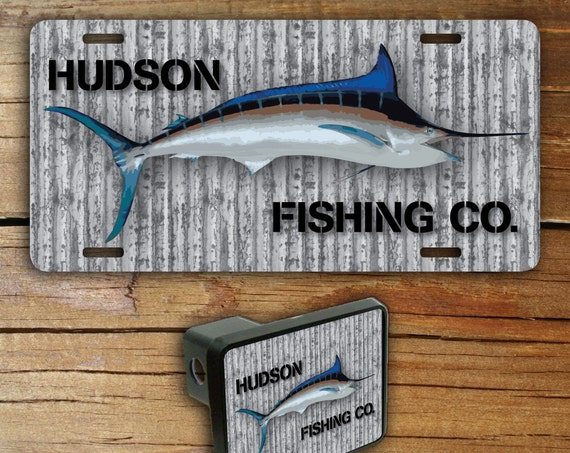 Father's Day Gifts For Dad For Grandpa Fishing Gifts for Him For Men Fish Gift Metal Front License Plate & Trailer Hitch Cover