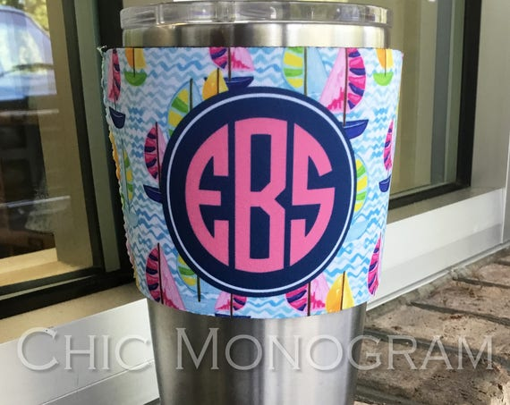 Teacher Gifts Monogram Teacher Tumbler Insulator Sleeve for Yeti Tumbler 20 Oz or 30 Ounces Lowball or Rambler Bottle Custom Yeti Tumbler