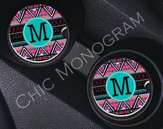 Aztec Car Coasters Cup Holder Coasters Custom Tribal Coasters Personalized Sandstone Coasters Aztec Cute Car Accessories For Women Tribal