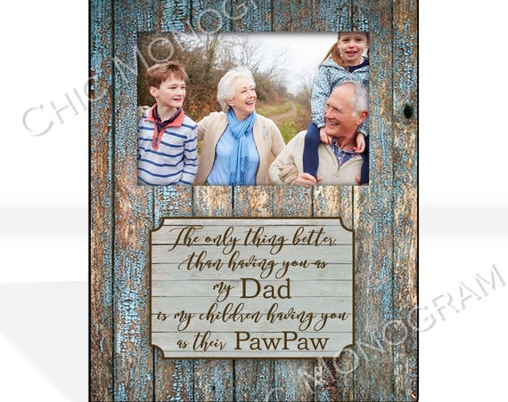 Fathers Day Gift From Daughter Custom Photo Frame Grandfather Gift Custom Quote Frame Personalized Picture Photo Frame New Grandparent Gift
