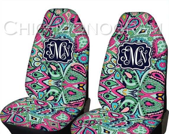 Seat Covers for Vehicle Paisley Jewels Car Seat Covers Front Seat Cover Monogram Personalized Car Accessories Seat Cover For Car
