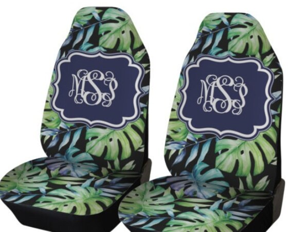 Monstera Plant Car Seat Covers Monstera Front Seat Covers Monogram Personalized Seat Covers For Car For Vehicle Monstera