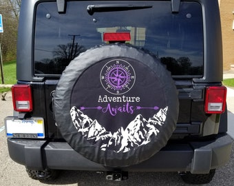 Spare Tire Cover Sunset Sunrise at The Ocean The Tide Going in//Out Size 35 inch
