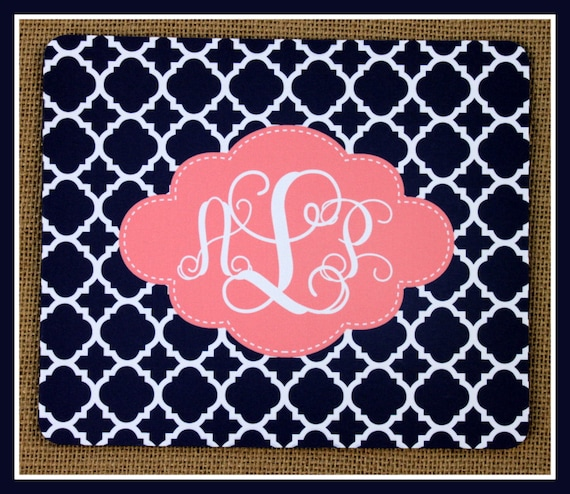 Mouse Pad Monogrammed Gifts Personalized Mousepad  Computer Accessories Custom Desk Coworker Gifts Office Gifts
