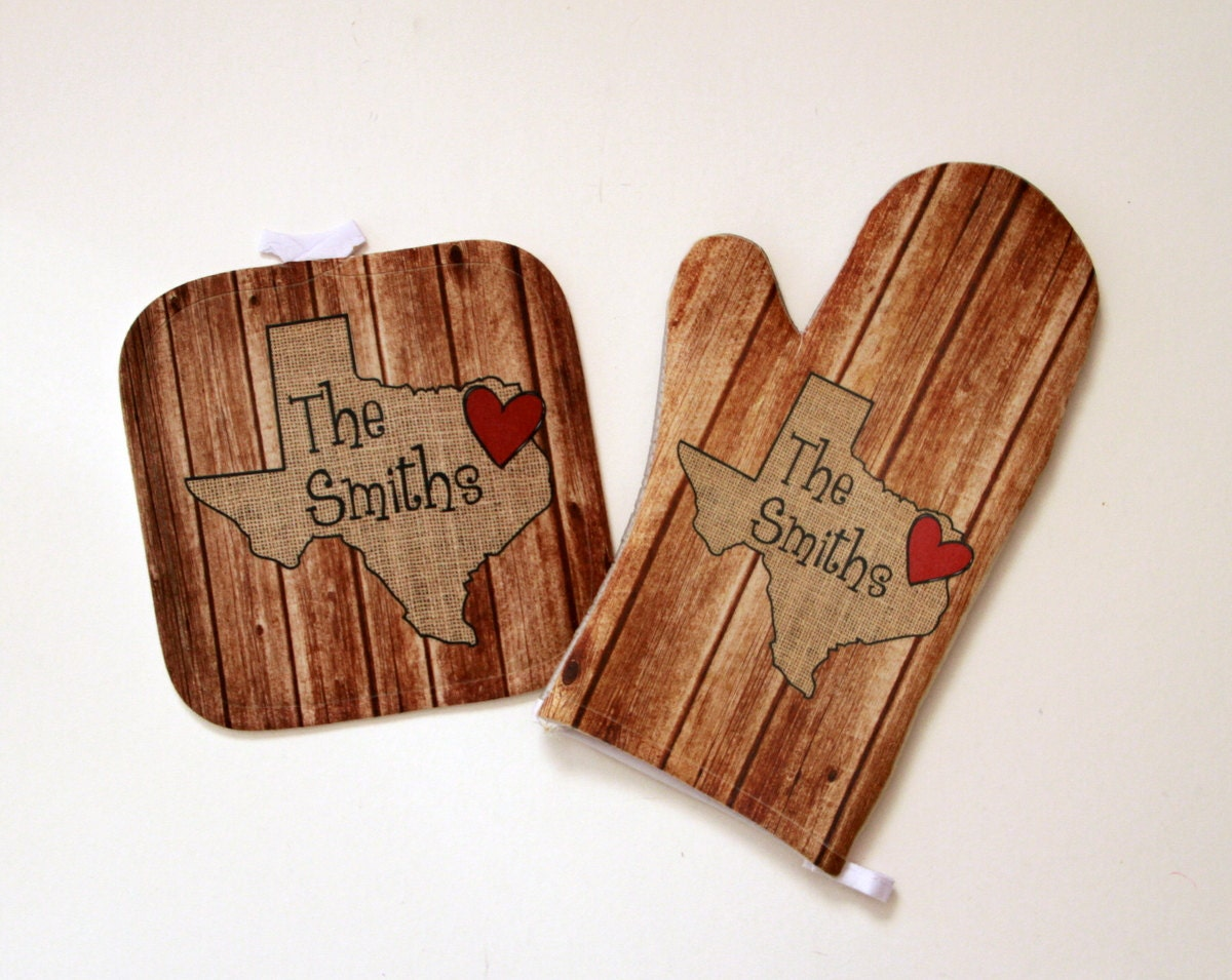 Personalized Gifts For Cooks Home State Wedding Gift Wood Look Oven