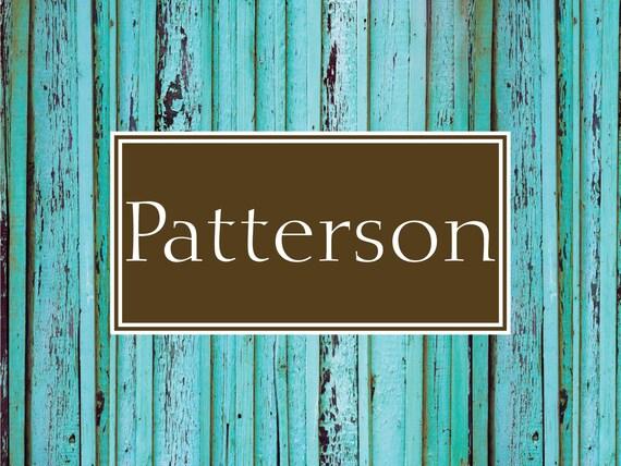 Door Mat Monogrammed Gifts Wood Look Rustic Personalized Custom Rug Monogram Doormat Front Door Mat Housewarming Wedding Gift Ideas Hostess