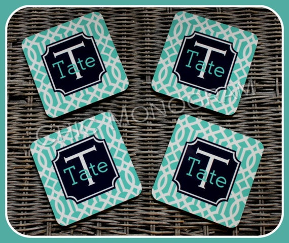 Personalized Coasters Mothers Day Gift Custom Coasters Monogram Coasters Drink Coasters Wedding Coasters Monogrammed Gifts Housewarming Gift