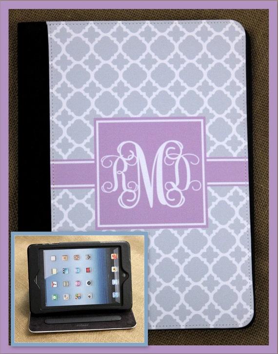 iPad Air iPad 2 iPad 3 Air iPad Mini Case Folio Cover Masker Monogrammed Personalized Custom Adjustable Angle View Stand Notebook Case