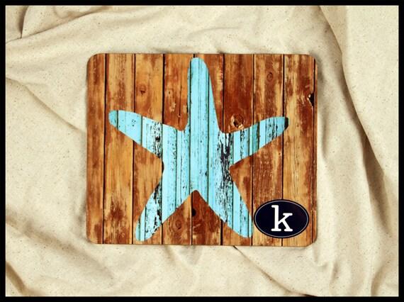 Rustic Starfish Trivet, Rustic Nautical Home Decor, Personalized Monogram Hotplate, Unique Gift Ideas, Wedding Housewarming Gift