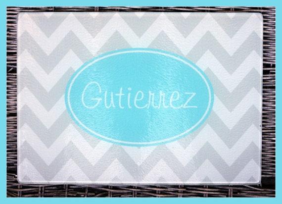 Personalized Glass Cutting Board Custom Monogrammed Gifts for Mom Hostess Wedding Gift Ideas Housewarming Monogram
