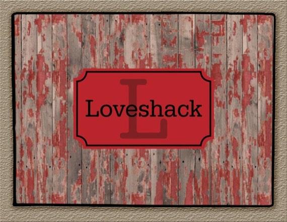 Door Mat Monogrammed Gifts Wood Look Rustic Personalized Custom Rug Monogram Funny Doormat Front Door Mat Housewarming Wedding Gift Hostess