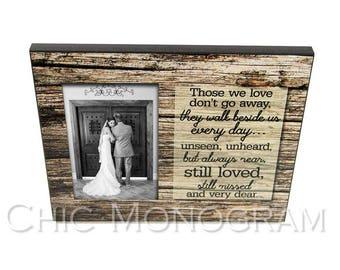 "Photo Frame, Custom, Wedding Photo Frame, 8"" x 10"" Frame Holds 4"" x 6"" or 5"" x 7"""