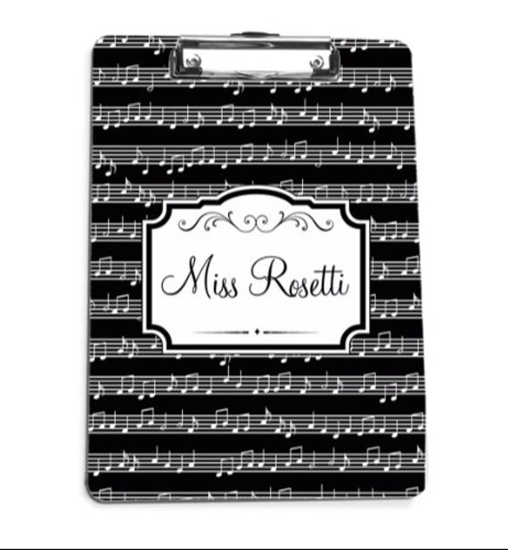 Thank You Gifts for Music Teachers Monogrammed Clip Board Clipboard Personalized Clip Board Clipboard Music Teacher Appreciation Gift