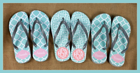 Graduation Gifts for Friends Flip Flops Monogrammed Gift College Student Shower Shoes Teacher Gift Personalized Custom Flip Flops Sandals