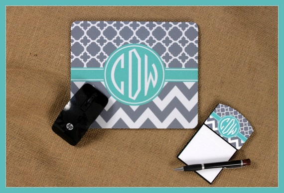 Christmas Gift for Co-Worker Mouse Pad Sticky Note Holder Monogrammed Gifts Personalized Mousepad Custom Desk Coworker Gifts Office Gifts