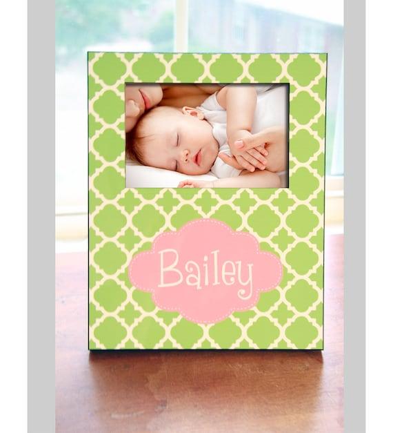 Personalized Photo Frame, New Baby Gift, Personalized Picture Frame, New Mom New Parent Gift, Monogrammed Custom Designed 8 x 10 w/ 4 x 6