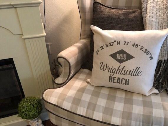 Custom Pillow Nautical Coordinates Home Decor Longitude Latitude Pillow Custom Wedding Gift Housewarming Pillow