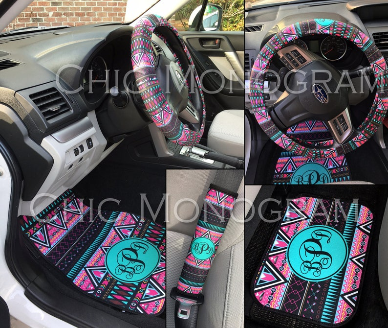 Car Accessories Aztec Car Accessories For Women Aztec Tribal Car Mats Custom Car Sets License Plate Frame Steering Wheel