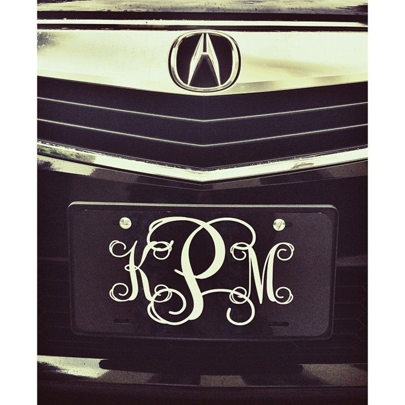 4b5acaadf Classy Black and White Front License Plate Personalized