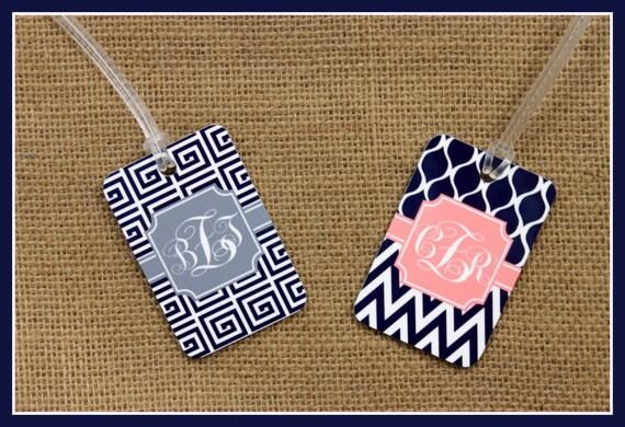 Bag Tags Monogram Luggage Tag Custom Monogrammed Gifts Gym Bag Luggage Tags Personalized Custom Gifts Bridal Party Bridesmaids Groomsmen