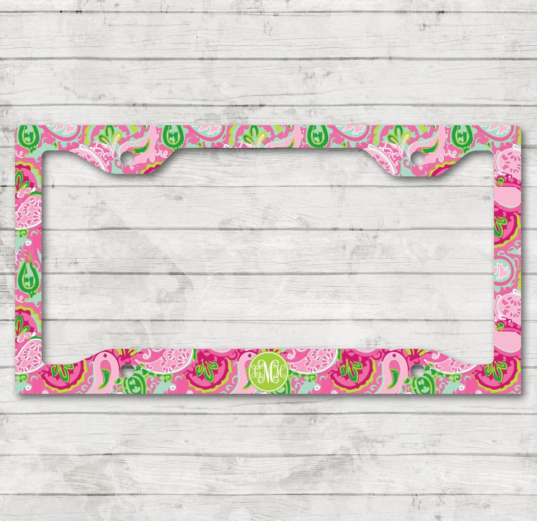 Sweet 16 Gift Lilly Inspired Monogram License Plate Frame Cover ...