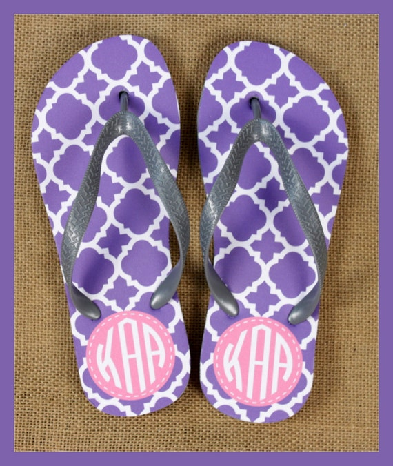 Gifts for College Students Design Your Own Flip Flops Shower Shoes Monogrammed Gift Back To School Personalized Custom College Dorm Ideas