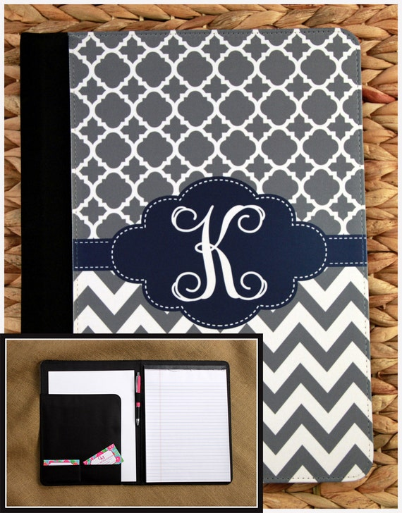 Gift for Co Worker Personalized Padfolio Custom Portfolio Monogrammed Gift Office Accessories Monogram Padfolio Notepad Notebook