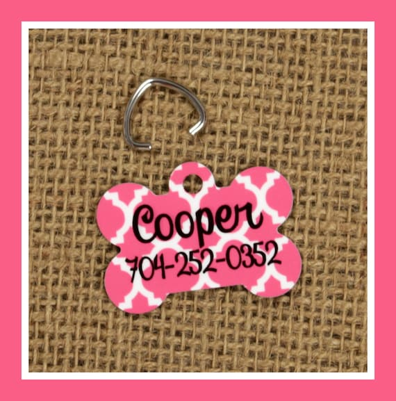 Pet Tag ID Tag Pets Cats Dogs Dog Tag Personalized Cat Tag Monogram Dog Gift
